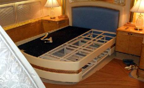 Versace bed; Custom mattress built for a king's airplane ...